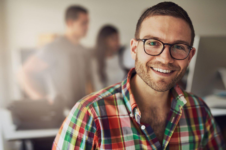 Learning People | Man in office