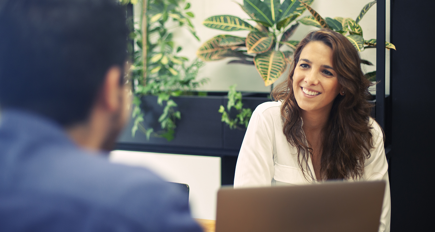 Learning People | woman IT professional in interview