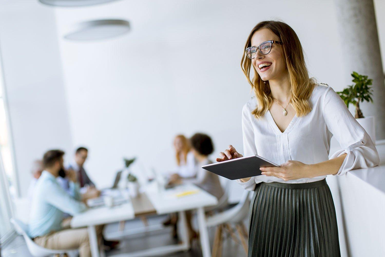 Learning People | Woman in office