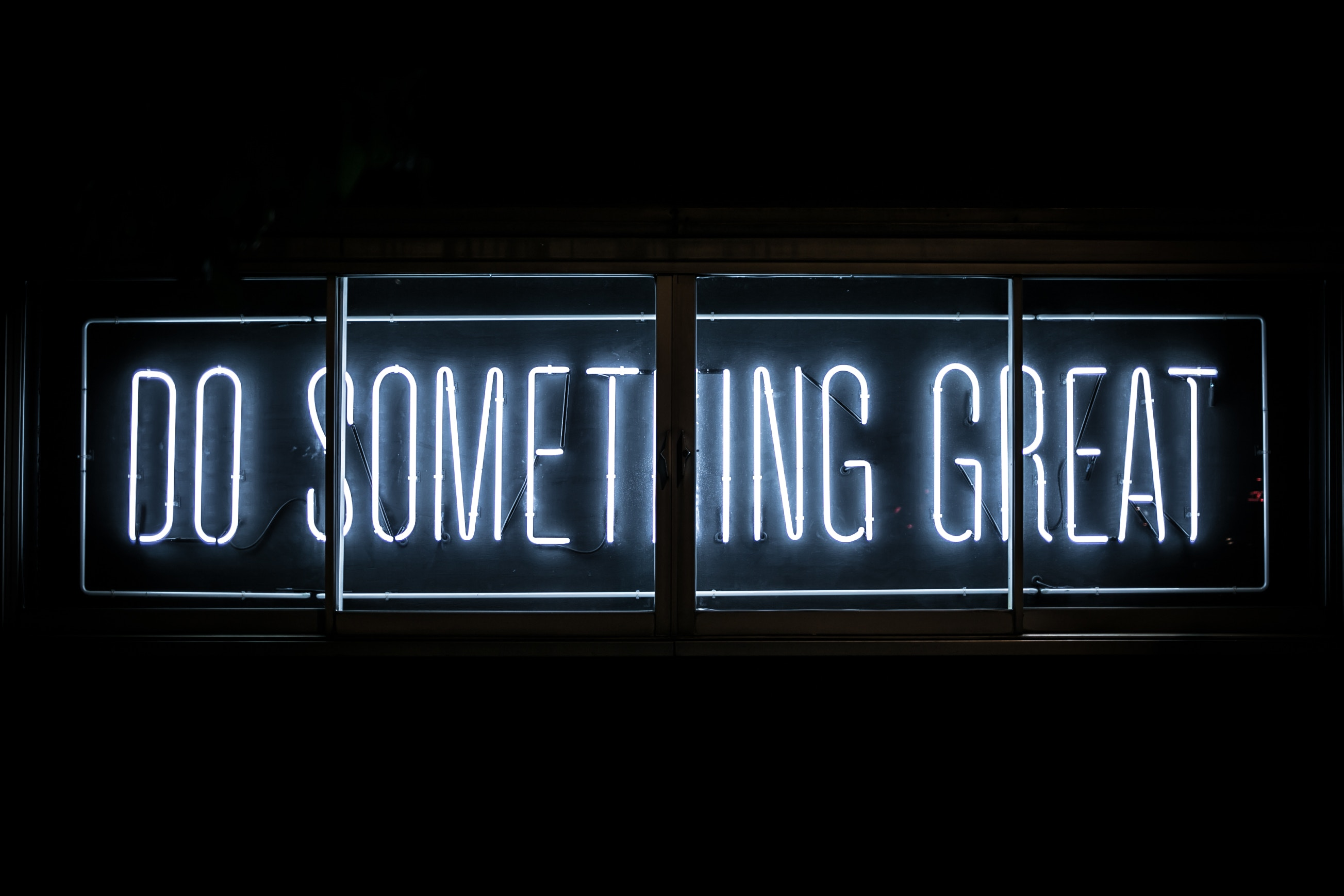 Do Something Great - Neon sign