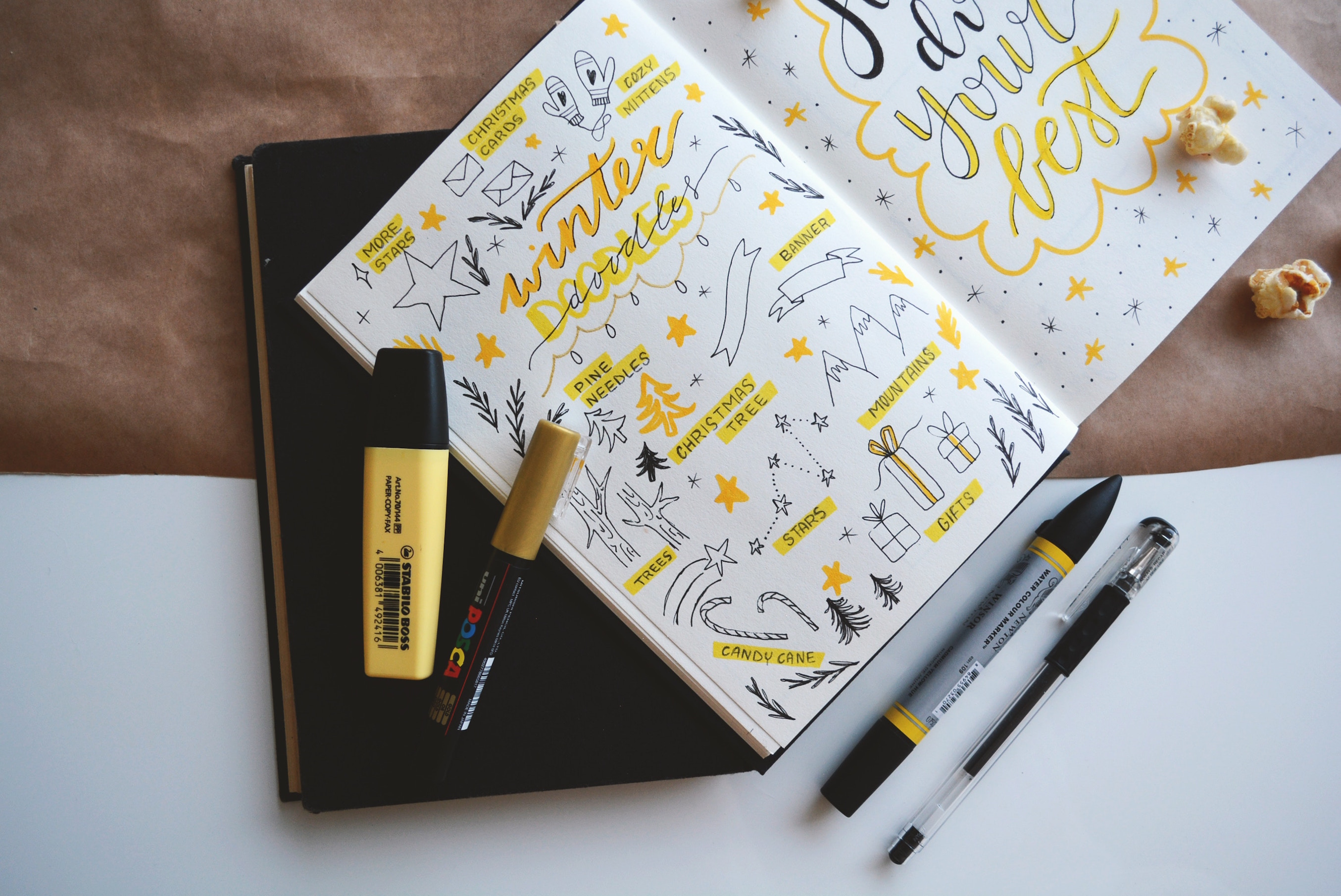 Notebook and pens - National Stationary Week