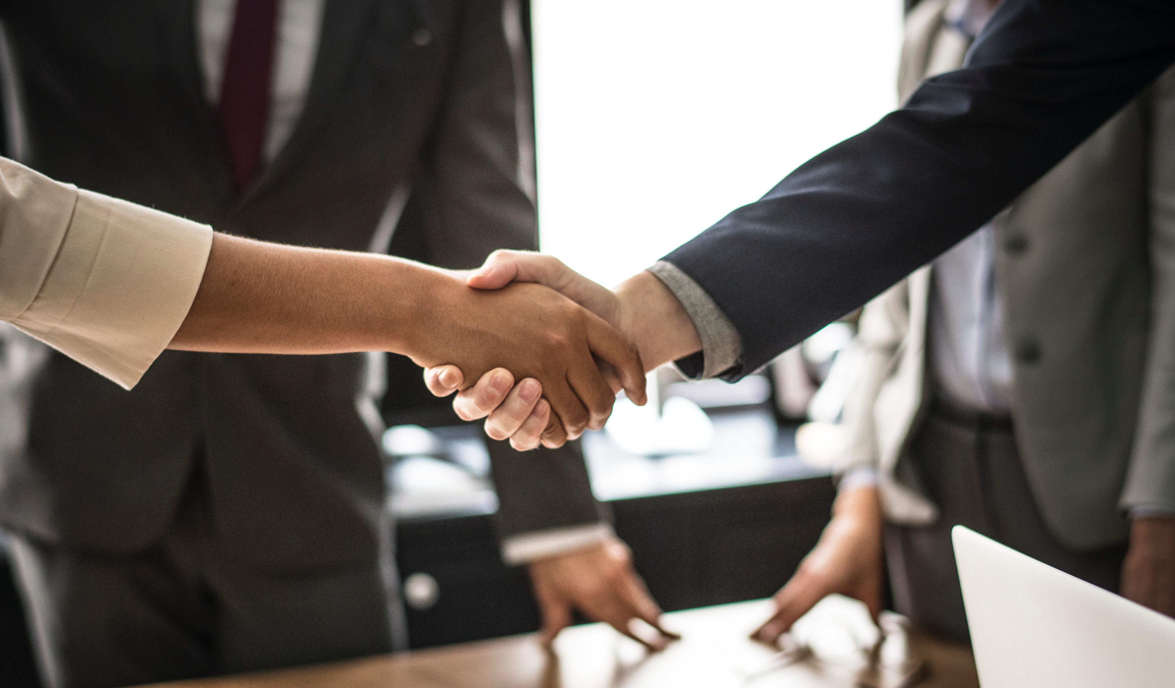Project management - handshake