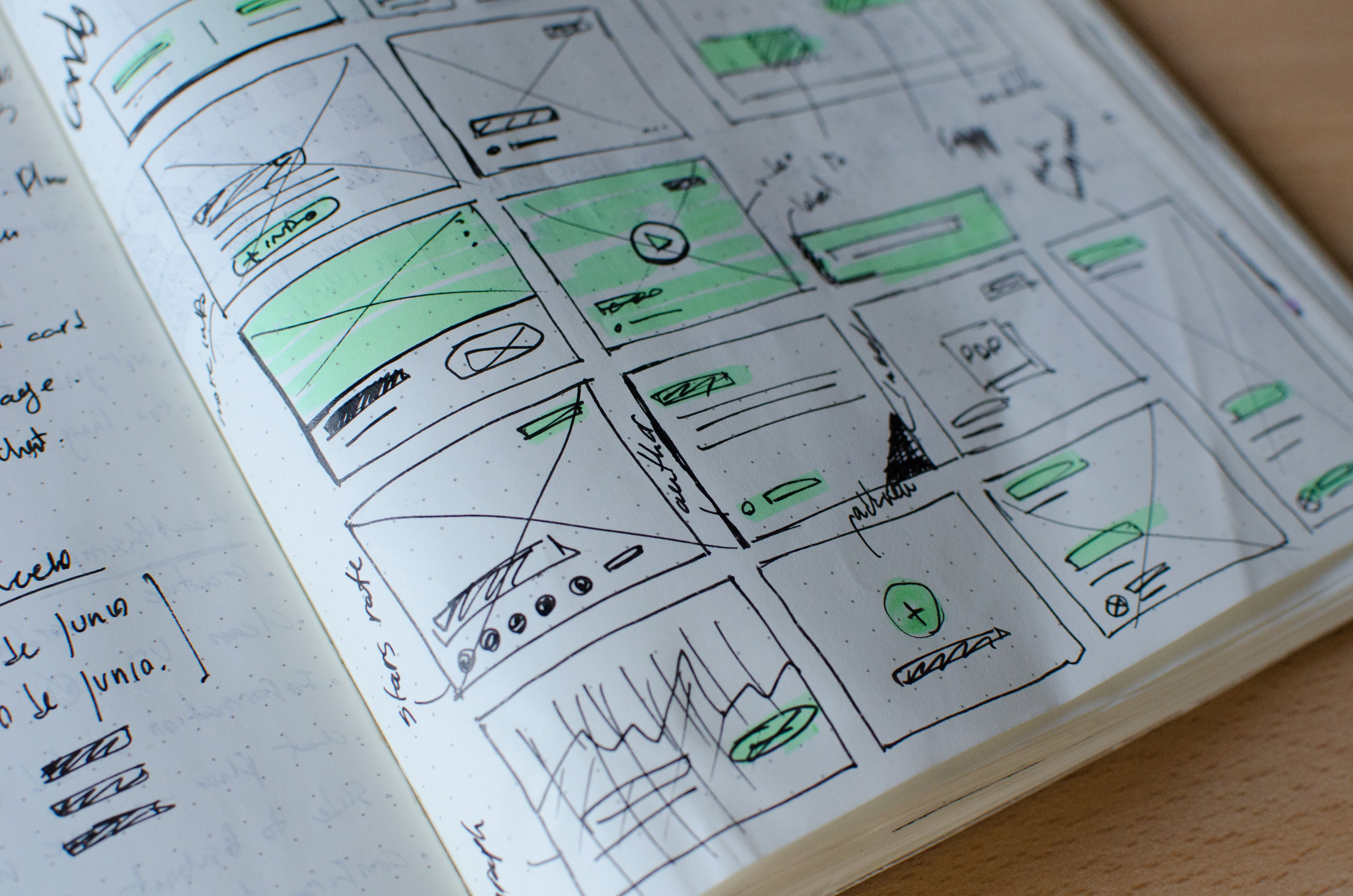 UX Design sketches
