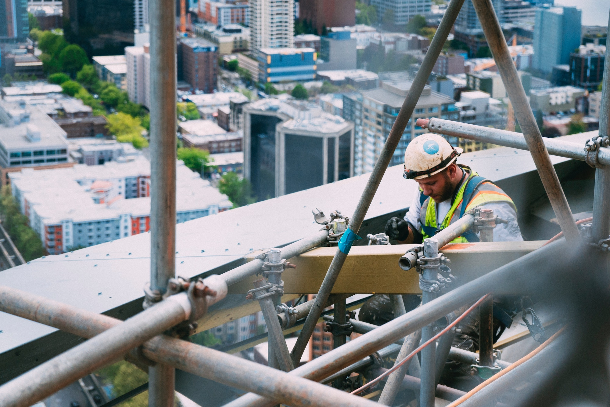 Learning People | Man on construction site considering a career change